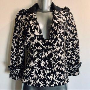 Diane Von Furstenberg Ibory/Black Wool Blazer